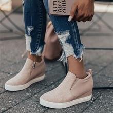 HEFLASHOR Women Sneakers 2019 Breathable Wedges Platform Vulcanize Shoes Woman P