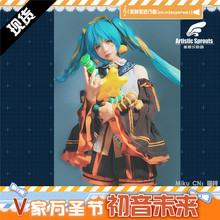 Halloween Miku cosplay costume Pumpkin skirt lovely style Halloween party dress for woman A promare lio fotia mad burnish cosplay costume black top pants cool style full sets halloween costume for woman a