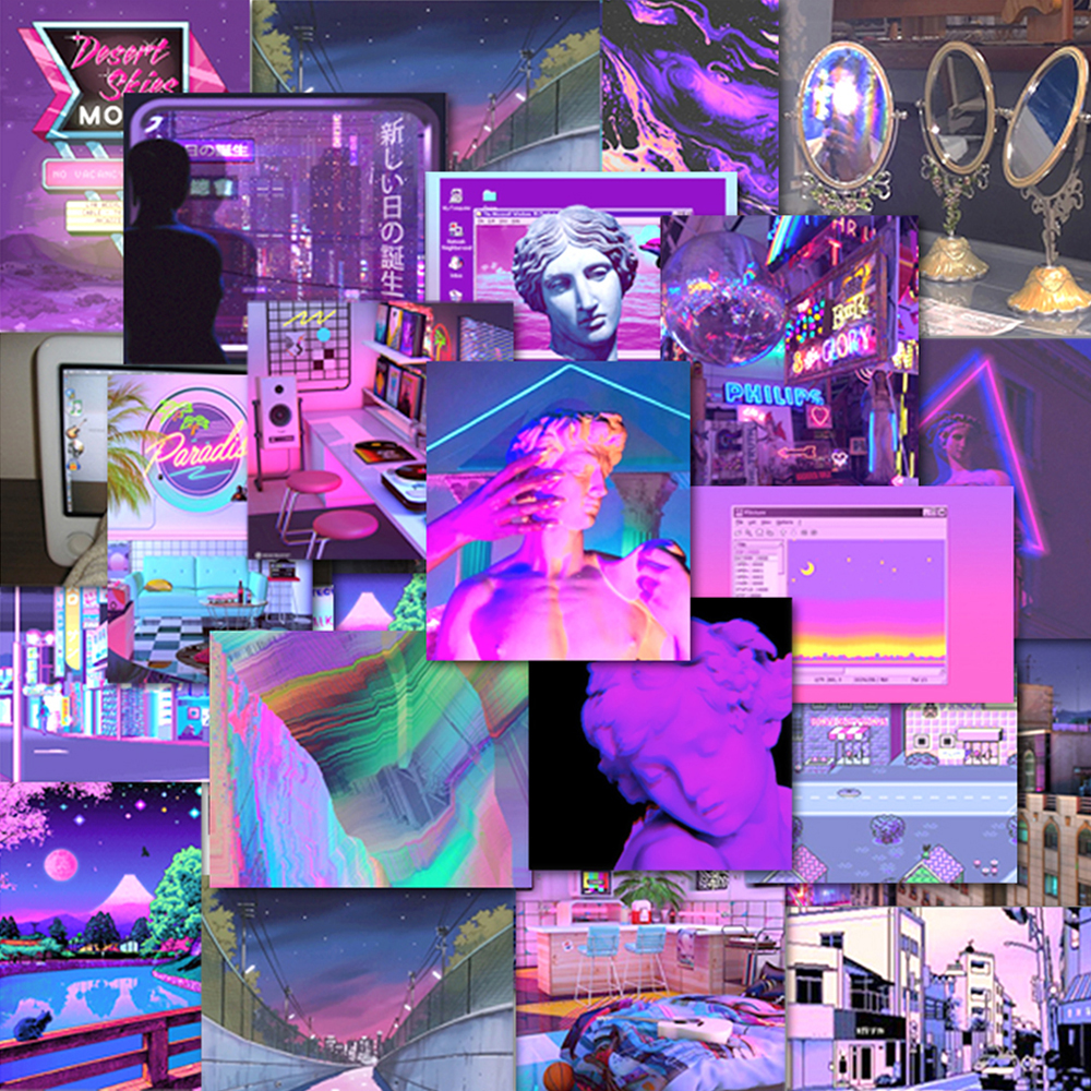 Японские Стикеры, эстетичные винтажные декоративные стикеры Vaporwave для блокнотов, дневников, канцелярских принадлежностей, альбомов товары ...