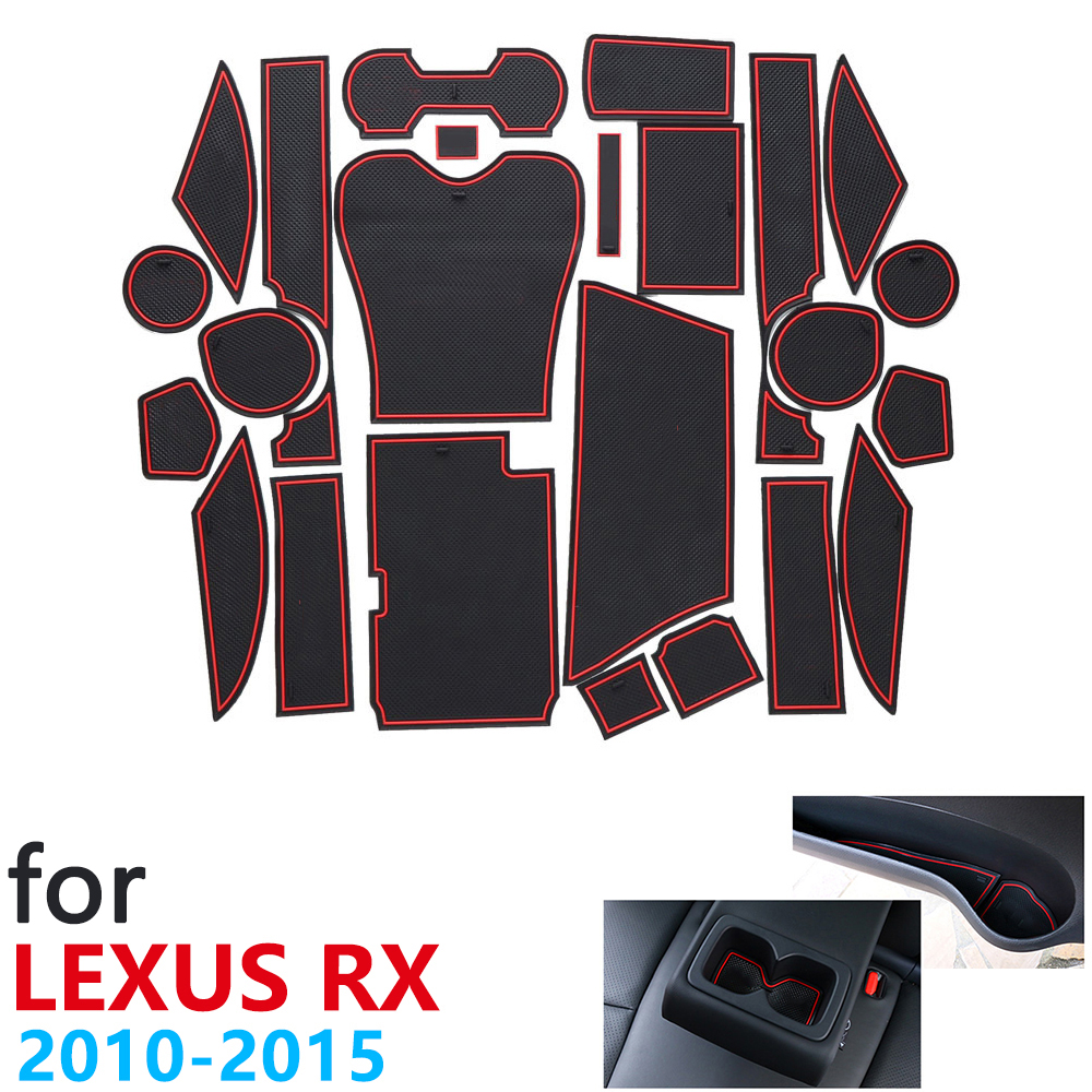 Anti-Slip Rubber Cup Cushion Door Groove Mat for <font><b>Lexus</b></font> RX RX270 RX350 <font><b>RX450h</b></font> 270 350 450h 2010~2015 Accessories mat for phone image