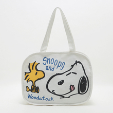 WULI SEVEN Women Cute Cartoon Dog Graffiti Canvas Single Shoulder Bag