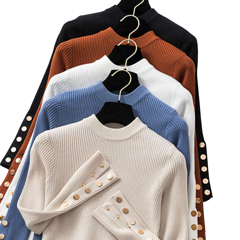 Gkfnmt Thick Sweater Long-Sleeve Pullovers O-Neck Knit Jumpe Female Autumn Winter Women