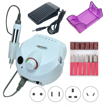 35000RPM Electric Nail Drill Machine Milling Cutter Set Machine for Manicure Pedicure Nail Tips Professional Electric Nail File professional 35000rpm 15w electric nail drill machine manicure cutter accessory kit for pedicure manicure file diy nail art tool