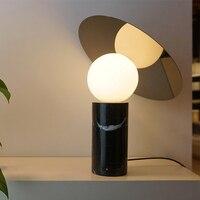 modern marble table lamp LED table lamp table light glass shade marble base newest design designer lighting