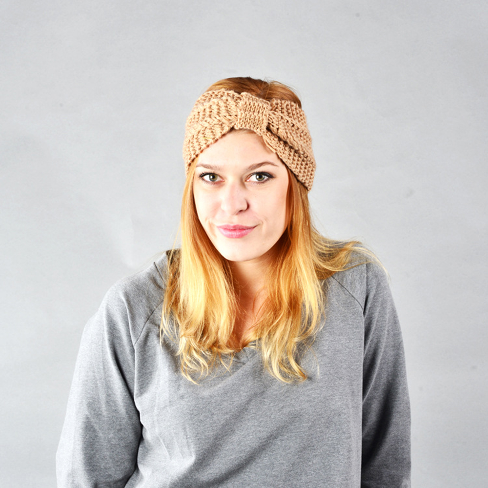 NIBESSER Fashion Snowboard Warm Knitted Cap Snap Skullies Bonnet Beanie No Top Wool Hat Women Multi-purpose Hat 22