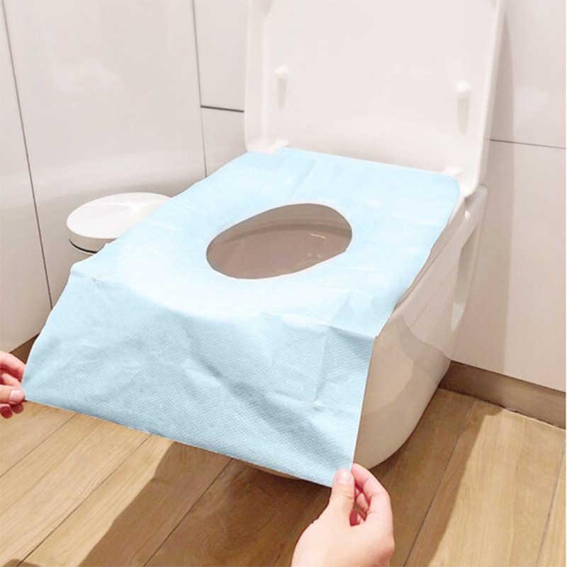 Jednorazowa nakładka na toaletę poduszki podróży w domu wc poduszki papieru papieru toaletowego dla kobiet w ciąży monolityczne pakiet