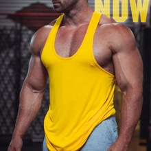 Fitness Tank Top Men Bodybuilding Gym Clothing Sleeveless T Shirts Man Running Vests Muscle Tops