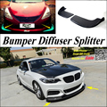 Автомобильный сплиттер  диффузор  бампер  Canard  для BMW 2  серия F22  F45  2014  2015  тюнинг  Body Kit/передний дефлектор  автомобильный ребро-подбородок