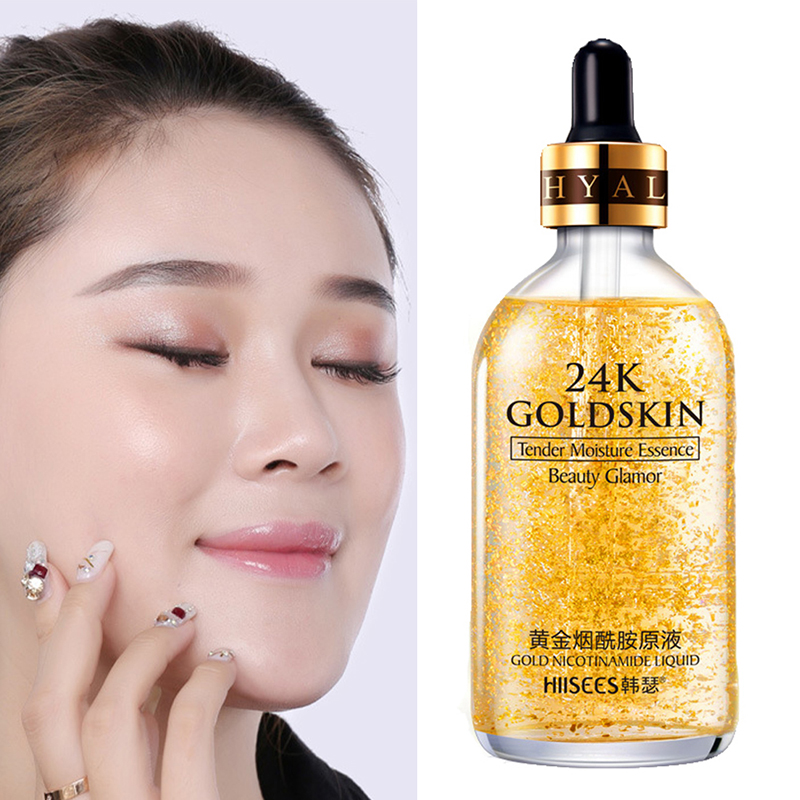 Gold Essence Primer Hydrating Moisturizer Pores Face Foil Serums Oil Matte Facial Professional Makeup Base Promote Metabolism