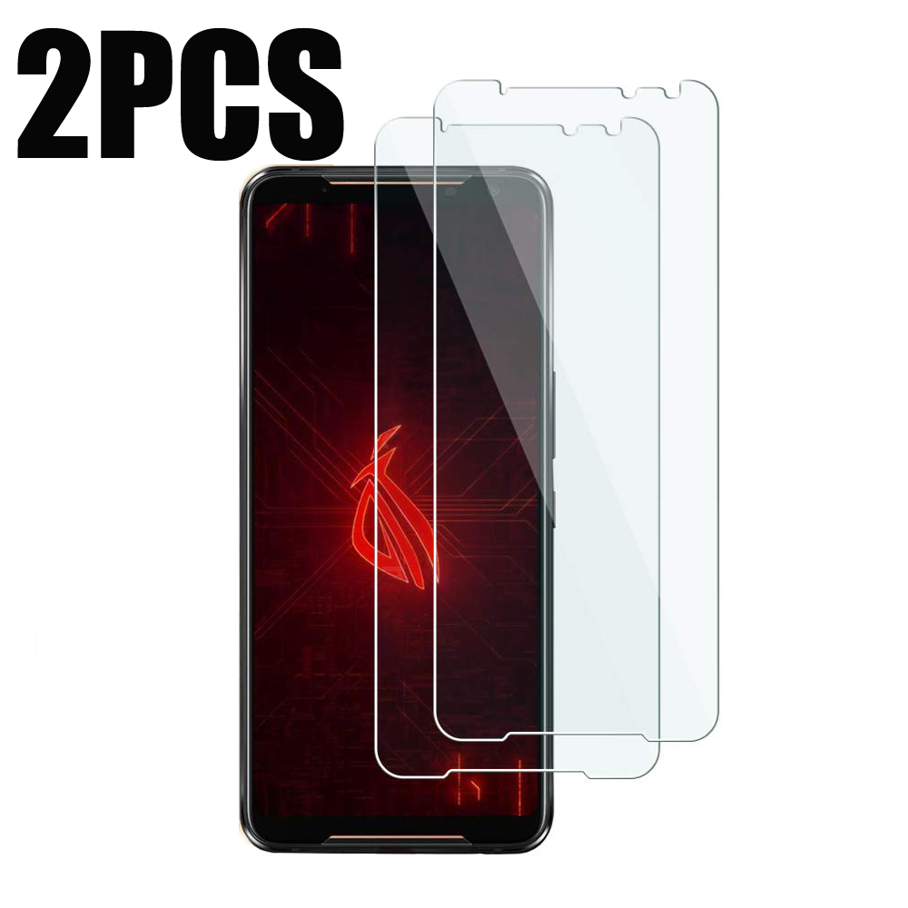 2PCS Tempered Glass On Asus ROG Phone II 2 ZS660KL Screen Protector Protective Film For Asus ROG Phone ZS600KL