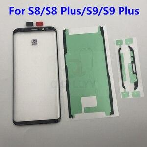 Image 1 - S8 + S9 + استبدال الزجاج الخارجي لسامسونج غالاكسي S8 S8 زائد S9 S9 Plus شاشة إل سي دي باللمس شاشة الجبهة الزجاج الخارجي عدسة
