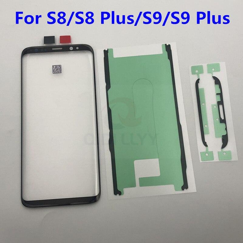 S8 + S9 + Замена внешнего стекла для Samsung Galaxy S8 S8 Plus S9 S9 Plus ЖК дисплей с сенсорным экраном Переднее стекло Внешний объектив|Сенсорные панели (тачскрин)|   | АлиЭкспресс