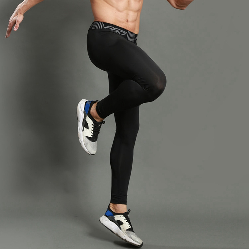 Men Running Tights Pants 2020 Men Sports Legging Sportswear Quick Dry Breathable Pro Compression Gym Fitness Athletic Trousers