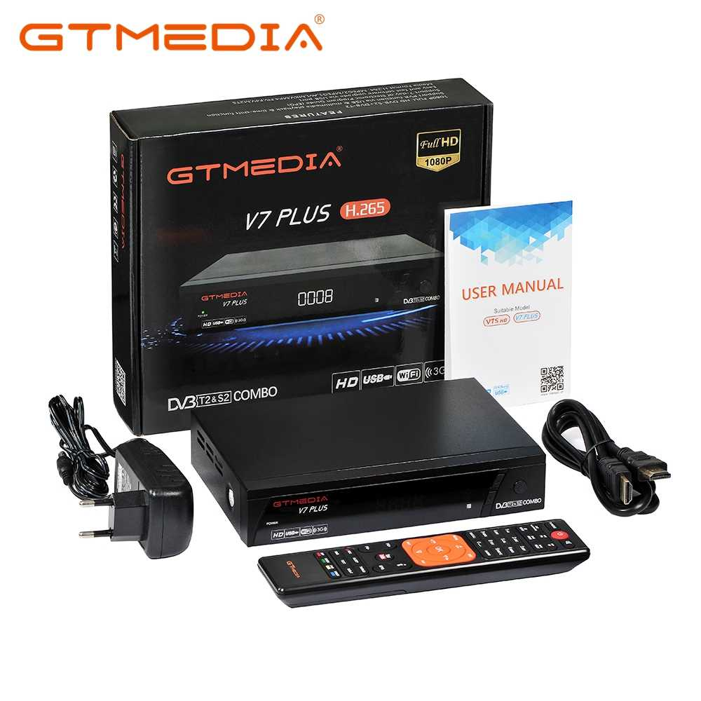 Gtmedia V7 Plus H.265 Digitale Satellietontvanger Dvb S2 Dvb T2 Set Top Box Ondersteuning Powervu Usb Wifi Netwerk sharing Cccam