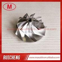G25 660 1380 1 54.28/67.40mm 9 + 0 bıçakları yüksek performanslı turbo alüminyum 2618/freze/takoz kompresör çarkı 858161 5003S