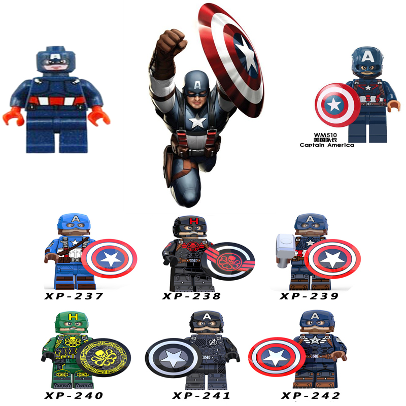 Super Hero Captain America  Marvel Super Hero Hydra Agent Avengers Endgame Building Blocks Sets Model Bricks Toys