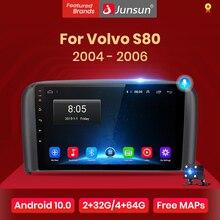 Junsun 4G + 64G Android 10 Per Volvo S80 1998   2006 Auto 2 din Auto Radio Stereo lettore di Navigazione GPS Bluetooth No 2din dvd