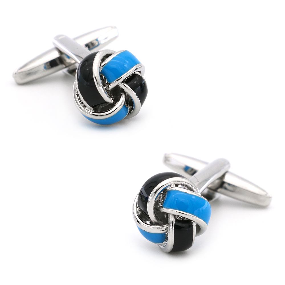 Free shipping Black Cufflinks for men fashion knot design top quality copper hotsale cufflinks whoelsale&retail 5