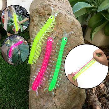4 Pcs Colorful TPR Centipede Toy Halloween Party Interesting Horror Vent Squishy Spoof Gadget