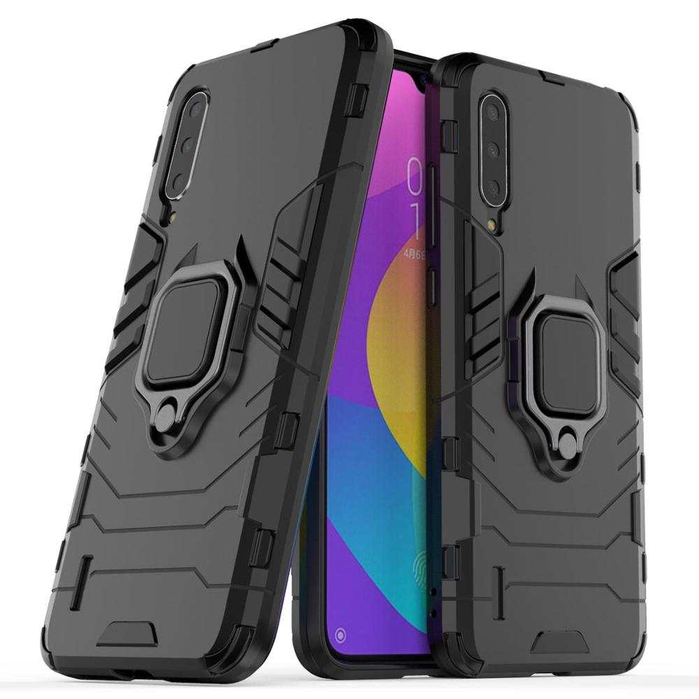 Armor Car Holder Magnet Ring Phone Case Silicone Cover On For Xiaomi MI 9 Lite 9T Pro Mi9 Mi9t 9lite Global 64/128/256 GB Light(China)