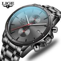 Reloj de pulsera de cuarzo negro para hombre, cronógrafo de lujo, militar, deportivas luminosas, resistente al agua, novedad de 2021