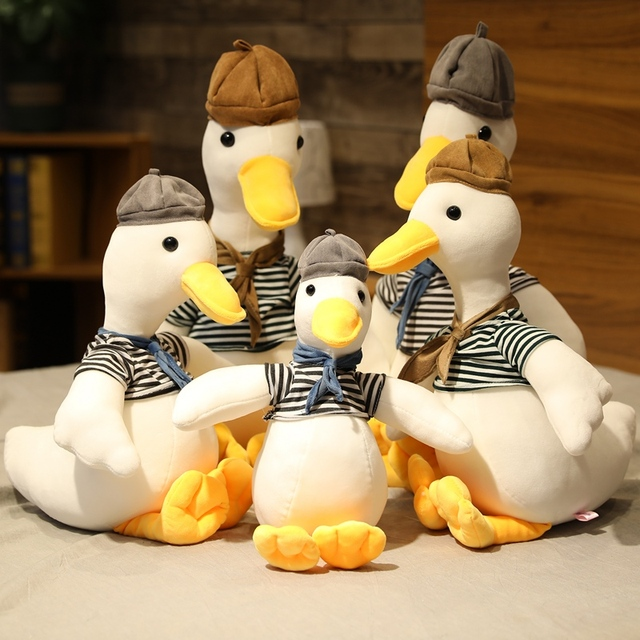 30-75cm Lovely Painter Goose Plush Toy Cute Animal Popular Stuffed Doll Fashion Creative Children Kids Birthday Christmas Gift