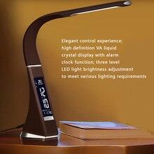 Adjustable Calendar Reading Lamp Multi-functional USB LED Study Desk Table Clock Touch Light