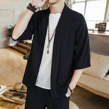Homem japonês cardigan quimono tradicional japonês samurai roupas streetwear yukata masculino camisa haori dos homens quimono camisa 4xl 5xl