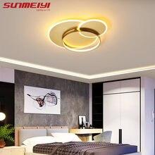 Современные светодиодные потолочные лампы золотого и черного