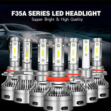 2PCS Car Headlight Bulbs LED H1 H3 H27 H7 H11 HB3 HB5 880 9005/HB3 9006/HB4 H4 12V 60W 6000K 6000LM/Pair Lamp Auto Bulb Light cob chip h4 h7 led headlight conversion kits h1 h11 9005 9006 hb3 hb4 car light bulbs auto lamp 6000k 12v