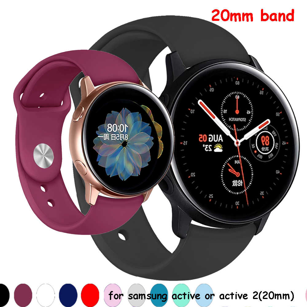 Galaxy watch aktif 2 band Samsung galaxy watch 42mm dişli spor 20mm saat kayışı amazfit bip huawei saat 2 pro aksesuarları
