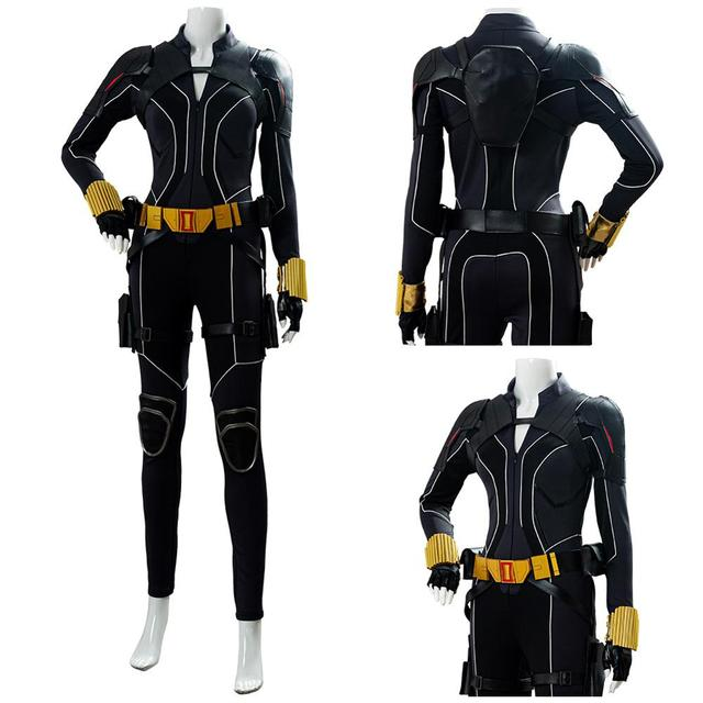 2020 Black Widow Natasha Romanoff Cosplay Costume Uniform Halloween Carnival Costume Made