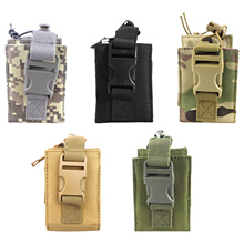 600D Tactical Moble Radio Walkie Talkie Pouch Waist Bag Holder Pocket Portable Interphone Holster Carry Bag for Hunting Camping