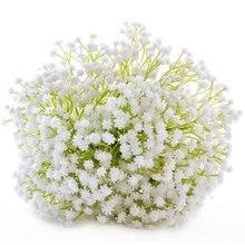 Gypsophila Fake Artificial Flower Babys Breath Flowers White Wedding Decoration Bridal Bouquet Deco