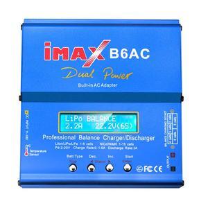 Image 2 - オリジナルhtrc imax B6 ac rc充電器リポバッテリーバランス充電器80ワット6Aニッケル水素ニッカドバッテリーバランス充電器rc放電器アダプタ