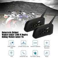 2pcs Motorcycle Helmet Walkie-talkie 1200 M Duplex Riding Walkie-talkie V6Pro 1200M for Motorcycle Helmet Moto Intercom Headset