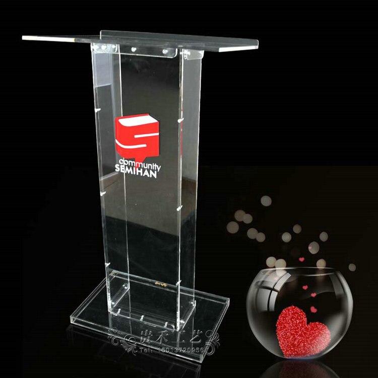 High Quality Transparent Acrylic Podium Conference Podium Aceept Custom Servie