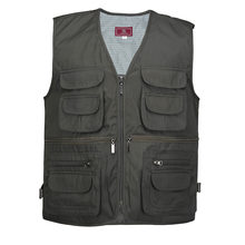 Good Forest Multi-Pocket Vest Cool Photography Solid Color Vest Reporter Photography Horse(China)