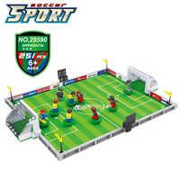 Compatível com legoinglys cidade modelo kits de construção futebol 200 blocos 3d modelo educacional & brinquedos de construção para crianças