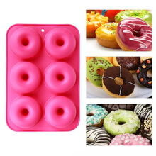 Mold Silicone Non-Stick for 6-Full-Size Donuts/Bagels/And/More