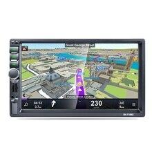 2 Din 7 дюймов HD TFF контактный экран Автомобильный gps навигатор FM Bluetooth Радио AUX 7156G Автомобильный плеер телефон зарядка Hands-Free вызов