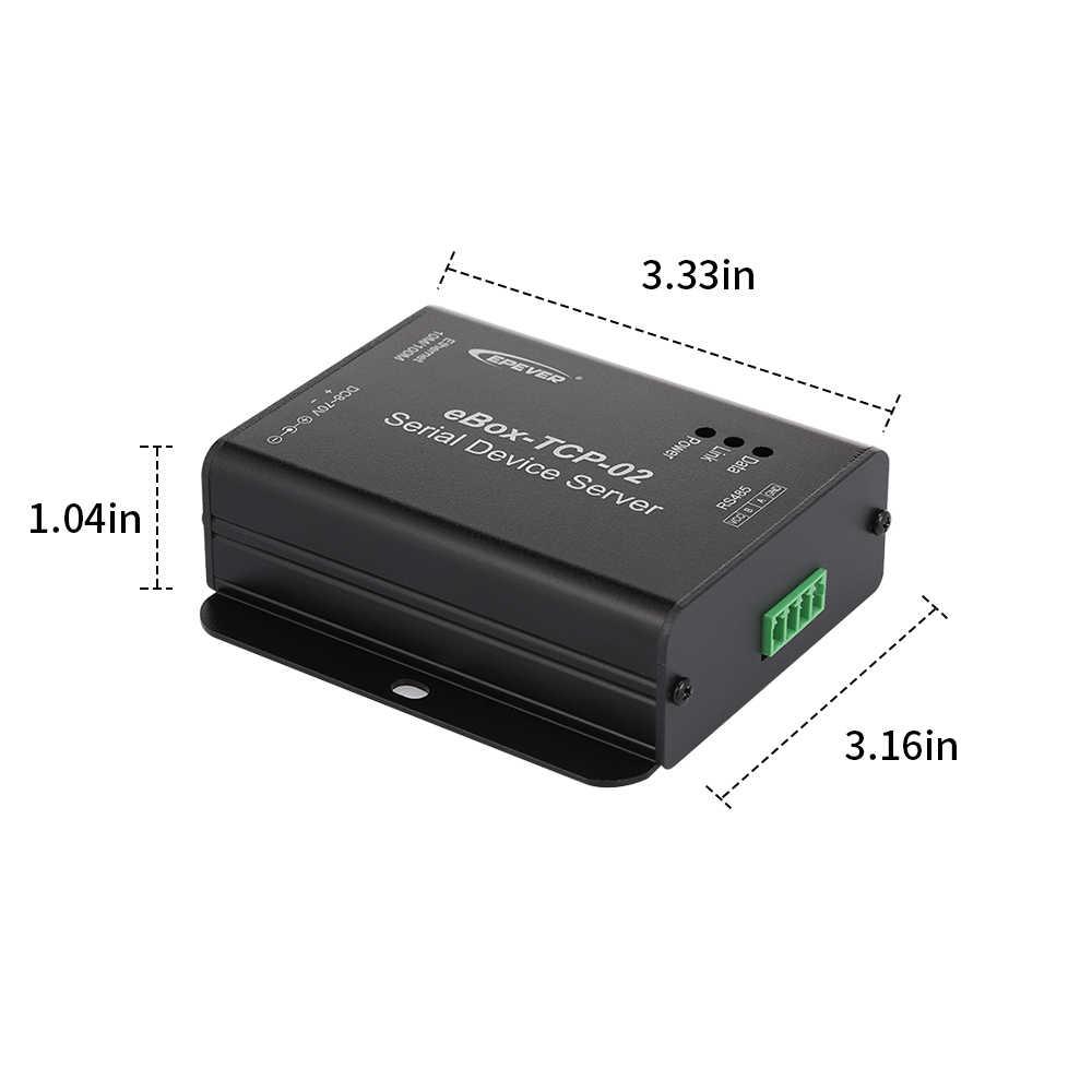EBOX-TCP-02 последовательный порт сетевой сервер порт Ethernet преобразования модуль с датчиком температуры для солнечного контроллера регулятор