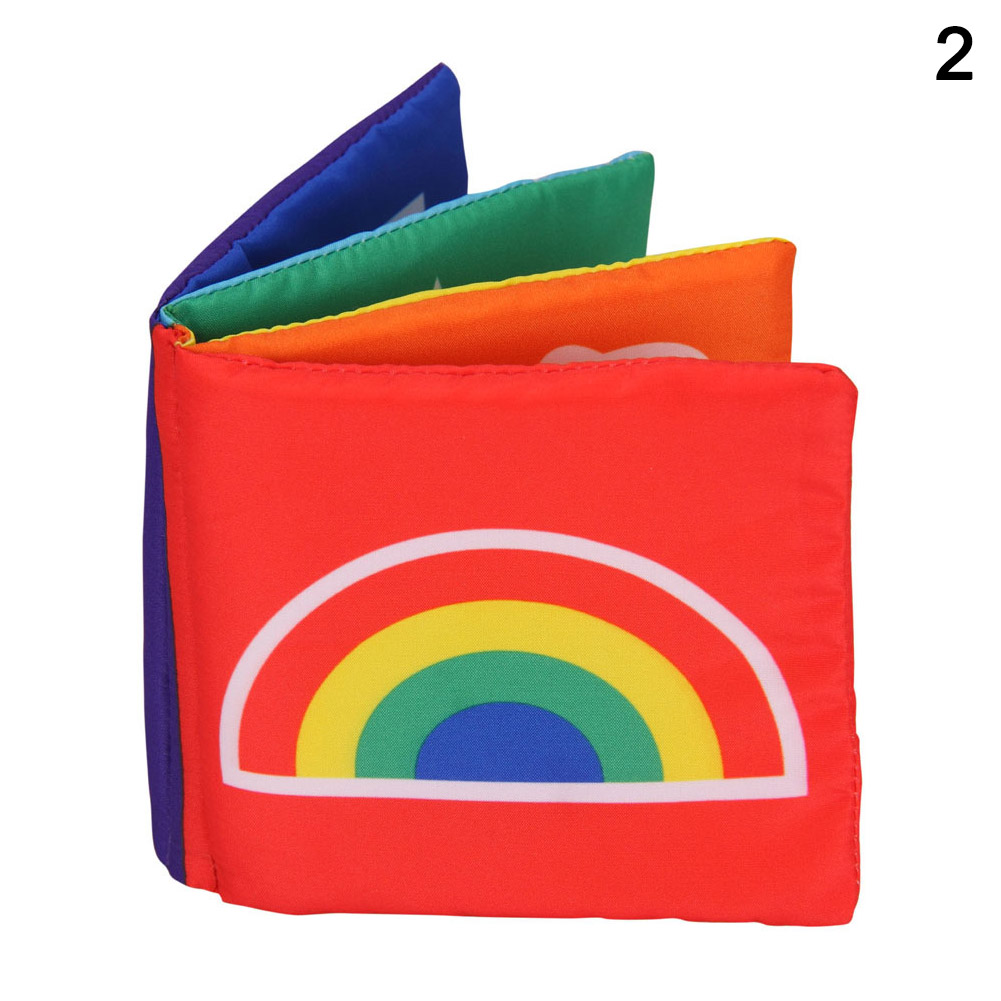 New Hot Stimulate Vision Soft Colorful Cotton Fabric Baby Book Early Educational Supplies SMR88