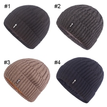 Men Women Winter Warm Knitting Hats Wool Baggy Slouchy Beanie Hat Skull Cap Velvet Lining Knitted Cuffed Beanie outdoor plaid velvet baggy beanie
