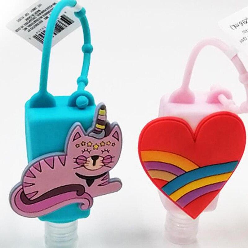 Cartoon 30ml Waterless Silicone Bath Body Works Hand Sanitizer Pocketable Antibacterial Holder With Empty Bottle