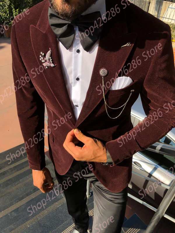 GentWith-Otis-Claret-Red-Slim-Fit-Velvet-Tuxedo