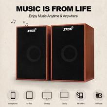 سادا AUX 3.5 مللي متر USB السلكية مكبرات الصوت سوبر باس خشبية الكمبيوتر مكبرات الصوت صندوق الصوت الصغير لأجهزة الكمبيوتر المحمول هاتف مكتبي MP3 مشغل موسيقى