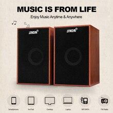 SADA AUX 3.5mm USB haut parleurs filaires Super basse en bois PC haut parleurs Mini boîte de son pour ordinateur portable téléphone de bureau MP3 lecteur de musique