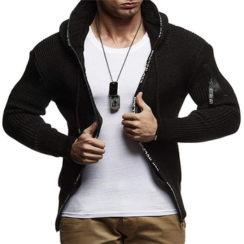 Knit Mens Designer Sweaters Hooded Cardigan Long Sleeved Mens Tops Pockets Casual Mens Apparel