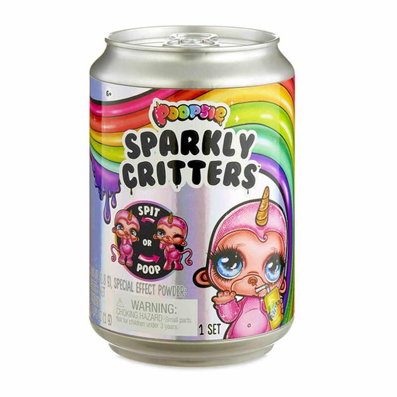 Novo brinquedo de descompressão espremendo música unicórnio jar sparkle splitter poopsie slime unicorne alívio suave squishies estresse espremer